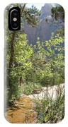 By The Emerald Pools - Zion Np IPhone Case