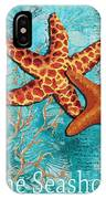 By The Sea Shore Original Coastal Painting Colorful Starfish Art By Megan Duncanson IPhone Case