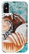 By The Seaside Original Coastal Painting Colorful Urchin And Seashell Art By Megan Duncanson IPhone Case