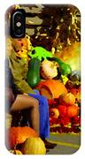 Cabbage Patch Kids - Giant Pumpkins - Marche Atwater Montreal Market Scene Art Carole Spandau IPhone Case