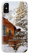 Cabin In Snow IPhone Case
