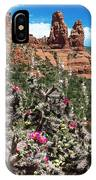Cactus Flowers And Red Rocks IPhone Case