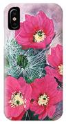 Cactus Flowers I IPhone Case