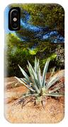 Cactus On A Rocky Coast Of French Riviera IPhone Case