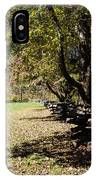 Cades Cove House And Split Rail Fence IPhone Case