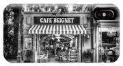 Cafe Beignet Morning Nola - Bw IPhone Case