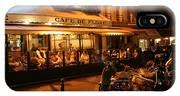 Cafe De Flore IPhone Case