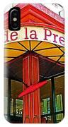 Cafe De La Presse In San Francisco-california  IPhone Case