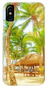 Cafe On Tropical Beach  IPhone Case
