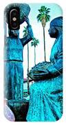 Cahuilla Women Sculpture In Palm Springs-california  IPhone Case