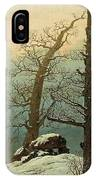 Cairn In Snow IPhone Case