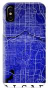 Calgary Street Map - Calgary Canada Road Map Art On Colored Back IPhone Case