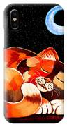 Calico In The Moonlight IPhone Case