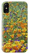California Poppies And Desert Blubells IPhone Case