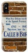 Calle Borbon IPhone Case