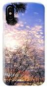 Calm December Sunset IPhone Case