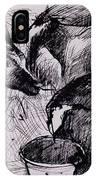 Calves, Damp, Newborn, 1978 Pen & Ink On Paper IPhone Case