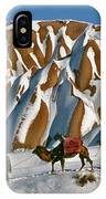 Camels On The Snow IPhone Case