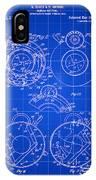 Camera Shutter Patent 1910 - Blue IPhone Case