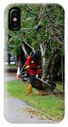 Camouflaged Leaf Blowers Working In Singapore Park IPhone Case