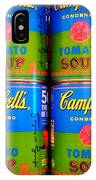 Campbell's Tomato Soup Retro Andy Warhol IPhone Case