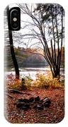 Campsite On Cary Lake IPhone Case