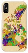 Canada Watercolor  IPhone Case