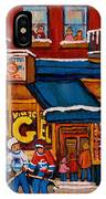 Canadian  Artists Paint Hockey And Montreal Streetscenes Over 500 Prints Available  IPhone Case