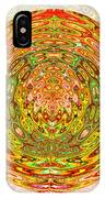 Canadian Fall Colors Conversion Into Chakra Wheel Deco Enery Mandala IPhone Case