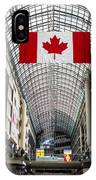 Canadian Flag Over Eaton Center IPhone Case