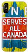 Canadian National Railway Stamp IPhone Case