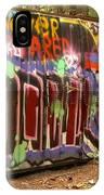 Canadian Pacific Train Wreck Graffiti IPhone Case