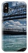 Canadian Tranfer Under Blue Water Bridges IPhone Case