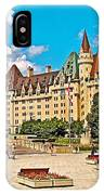 Canadian War Memorial And Chateau Laurier In Ottawa-ontario  IPhone Case