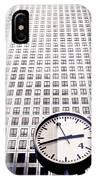 Canary Wharf Clock IPhone Case