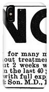 Cancer Treatment, C1875 IPhone Case