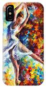 Candle Fire - Palette Knife Oil Painting On Canvas By Leonid Afremov IPhone Case