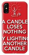 Candle Red IPhone Case