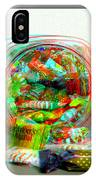 Candy Jar - Use Red-cyan Filtered 3d Glasses IPhone Case