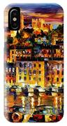 Cannes-france - Palette Knlfe Oil Painting On Canvas By Leonid Afremov IPhone Case