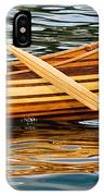 Canoe Lines And Reflections IPhone Case