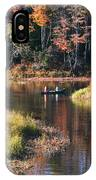 Canoeing In The Fall IPhone Case