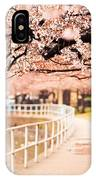 Canopy Of Cherry Blossoms Over A Walking Trail IPhone Case