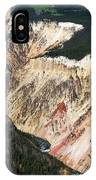Canyon And Yellowstone Falls IPhone Case