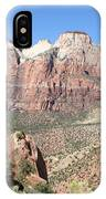 Canyon Overview Zion Park IPhone Case