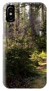 Capitol Forest Logging Road IPhone Case