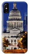 Capitol Of Texas IPhone Case