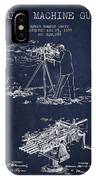 Capps Machine Gun Patent Drawing From 1899 - Navy Blue IPhone Case