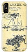 Capps Machine Gun Patent Drawing From 1899 - Vintage IPhone Case