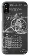 Capps Machine Gun Patent Drawing From 1902 - Dark IPhone Case